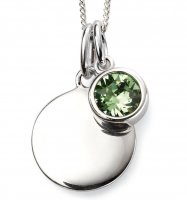 Gecko - Beginnings, August Birthstone, Swarovski Crystal Peridot Set, Stirling Silver Pendant, Size 41cm - 46cm