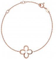 Links of London - Ascot, Sterling Silver, Rose Gold Plated Clover Bracelet