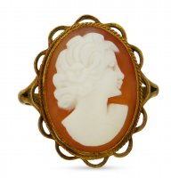 Antique Guest and Philips - Cameo Set, Yellow Gold - 9ct Rubbed Over