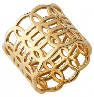 Links of London - Ovals, Yellow Gold Plated Ring