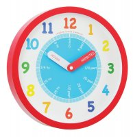 London Clock - Kids Tell The Time, Red Wall Clock
