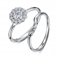 Andrew Geoghegan - Diamond 0.40 Halo 0.18 G Vs Set, Platinum - - Cluster Ring