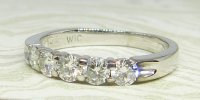 Antique Guest and Philips - White Gold and Diamond - Half Eternity Ring