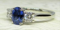 Antique Guest and Philips - Platinum and Sapphire - Three Stone Ring