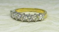 Antique Guest and Philips - Yellow Gold and Diamond Set Half Eternity Ring