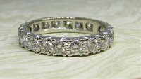 Antique Guest and Philips - Platinum and Diamond Set - Full Eternity Ring