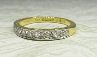 Antique Guest and Philips - 0.18ctDiamond Set, Yellow Gold - Half Eternity Ring