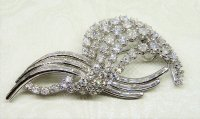 Antique Guest and Philips - Diamond Set, Platinum - Spray Brooch