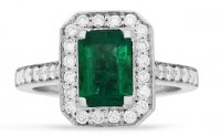Guest and Philips - Emerald 0.77 Diamond 0.34ct Set, White Gold - - 18ct Diamond Shoulder, Size N