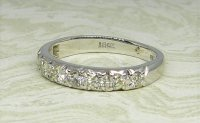 Antique Guest and Philips - White Gold and Diamond Set Half Eternity Ring