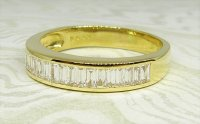 Antique Guest and Philips - Yellow Gold and Diamond - Half Eternity Ring