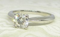 Antique Guest and Philips - White Gold -and Diamond Single Stone Ring