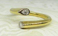Antique Guest and Philips - Yellow Gold and Diamond - Two Stone Ring