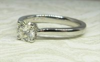 Antique Guest and Philips - Platinum and Diamond Set Single Stone Ring