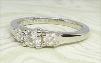 Antique Guest and Philips - White Gold -and Diamond Three Stone Kissing Diamond Ring