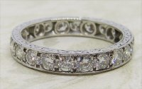 Antique Guest and Philips - 2.65ct Diamond Set, Platinum - Full Eternity Ring