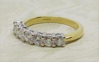 Antique Guest and Philips - 0.75ct Diamond Set, Yellow Gold - White Gold - Five Stone Ring