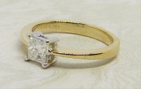 Antique Guest and Philips - 0.50ct Diamond Set, Yellow Gold - White Gold - Single Stone Ring