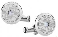 Montblanc - Mother Of Pearl Set, Stainless Steel - Exploding Star Cufflinks