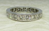 Antique Guest and Philips - White Gold and Diamond Full Eternity Ring
