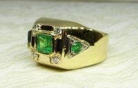 Antique Guest and Philips - Yellow Gold and Emerald Signet Ring
