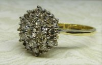 Antique Guest and Philips - Yellow Gold and Diamond Set Cluster Ring