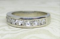 Antique Guest and Philips - Platinum - Half Eternity Ring