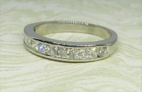 Antique Guest and Philips - Platinum and Diamond Set Half Eternity Ring
