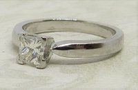 Antique Guest and Philips - 0.50ct Diamond Set, Platinum - Single Stone Ring