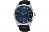 Pulsar - Stainless Steel, Leather Strap Watch With Date