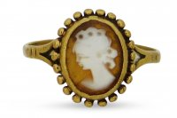 Antique Guest and Philips - 9ct Yellow Gold Rubbed Over Set Cameo