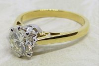 Antique Guest and Philips - 1.20ct Diamond Set, Yellow Gold - White Gold - Single Stone Ring