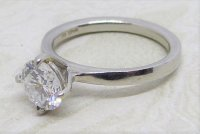 Antique Guest and Philips - 1.11ct Diamond Set, Platinum - Single Stone Ring
