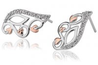 Clogau - Masque, White Topaz Set, Silver Stud Earrings
