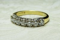 Antique Guest and Philips - Yellow and White Gold Diamond Set Half Eternity Ring