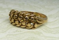 Antique Guest and Philips - Yellow Gold Keeper Ring