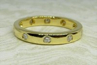 Antique Guest and Philips - Yellow Gold and Diamond Set Full Eternity Ring