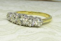 Antique Guest and Philips - 1.35ctDiamond Set, Yellow Gold - White Gold - Five Stone Ring