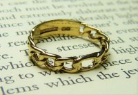 Antique Guest and Philips - 9ct Yellow Gold Open Link Band Ring