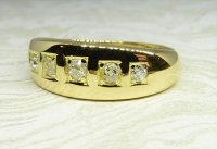 Antique Guest and Philips - Yellow Gold and Diamond Set Five Stone Ring