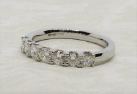 Antique Guest and Philips - Diamond Set, Platinum - Seven Stone Ring