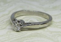 Antique Guest and Philips - Diamond Set, White Gold - Single Stone Ring
