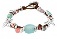 Uno de 50 - Only Her, Silver Plated Mullti Coloured Bracelet With Coloured Glasses