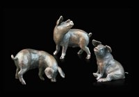 Richard Cooper - Bronze 3 Little Pigs Ornament
