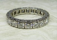 Antique Guest and Philips - Platinum and Diamond Set Full Eternity Ring