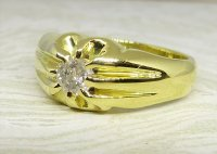 Antique Guest and Philips - Diamond Set, Yellow Gold - Single Stone Ring