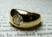 Antique Guest and Philips - Yellow Gold Old Round Brilliant Cut Diamond Set Gent's Ring
