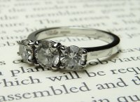 Antique Guest and Philips - Platinum and Round Brilliant Cut Diamond Set Ring