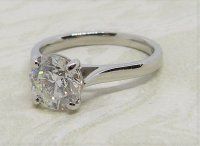 Antique Guest and Philips - 1.80ct Diamond Set, Platinum - Single stone Ring
