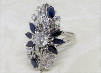 Antique Guest and Philips - 0.47ct Diamond Set, White Gold - Cluster Ring